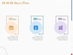 Providing Continuous Deployment With Jenkins 30 60 90 Days Plan Ppt Slides Brochure PDF