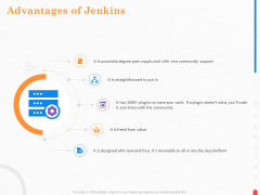 Providing Continuous Deployment With Jenkins Advantages Of Jenkins Ppt Icon Aids PDF