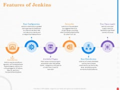Providing Continuous Deployment With Jenkins Features Of Jenkins Ppt Model Master Slide PDF