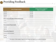 Providing Feedback Ppt PowerPoint Presentation Gallery Slideshow