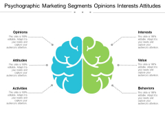 Psychographic Marketing Segments Opinions Interests Attitudes Ppt PowerPoint Presentation Outline Template