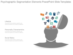 Psychographic Segmentation Elements Powerpoint Slide Templates