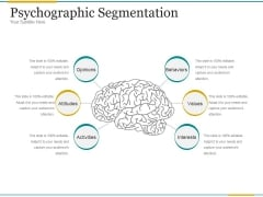 Psychographic Segmentation Ppt PowerPoint Presentation Information