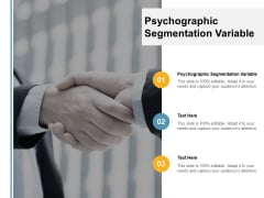 Psychographic Segmentation Variable Ppt PowerPoint Presentation Infographics Example File Cpb