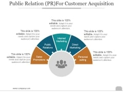 Public Relation For Customer Acquisition Ppt PowerPoint Presentation Backgrounds