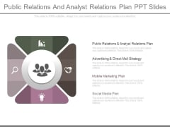 Public Relations And Analyst Relations Plan Ppt Slides