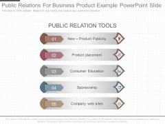Public Relations For Business Product Example Powerpoint Slide