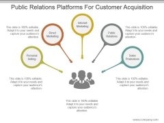 Public Relations Platforms For Customer Acquisition Ppt Design