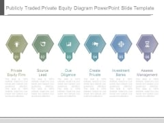 Publicly Traded Private Equity Diagram Powerpoint Slide Template