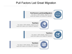 Pull Factors Led Great Migration Ppt PowerPoint Presentation Portfolio Show Cpb Pdf