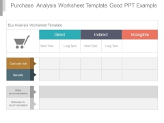 Purchase Analysis Worksheet Template Good Ppt Example