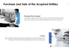 Purchase And Sale Of The Acquired Entities Ppt PowerPoint Presentation Professional Elements