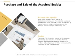 Purchase And Sale Of The Acquired Entities Ppt PowerPoint Presentation Styles Show