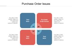 Purchase Order Issues Ppt PowerPoint Presentation Portfolio Cpb