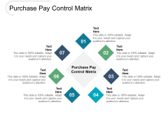 Purchase Pay Control Matrix Ppt PowerPoint Presentation Infographic Template Infographics Cpb Pdf