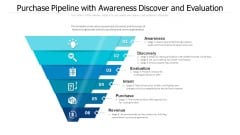 Purchase Pipeline With Awareness Discover And Evaluation Ppt PowerPoint Presentation Gallery Vector PDF