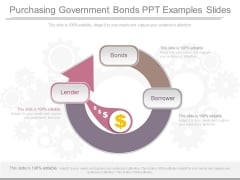 Purchasing Government Bonds Ppt Examples Slides