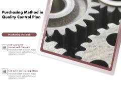 Purchasing Method In Quality Control Plan Ppt PowerPoint Presentation File Portfolio PDF