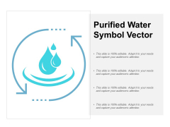 Purified Water Symbol Vector Ppt PowerPoint Presentation Icon Portrait