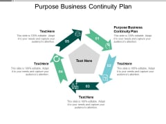 Purpose Business Continuity Plan Ppt PowerPoint Presentation File Icons Cpb