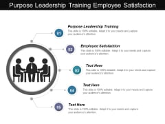 Purpose Leadership Training Employee Satisfaction Ppt PowerPoint Presentation Professional Elements