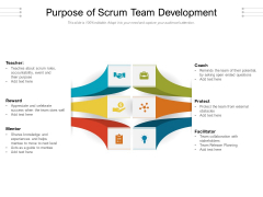 Purpose Of Scrum Team Development Ppt PowerPoint Presentation Layouts Brochure PDF