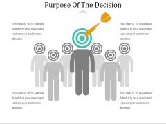 Purpose Of The Decision Ppt PowerPoint Presentation Portfolio Design Ideas