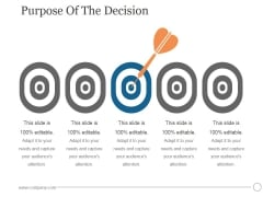 Purpose Of The Decision Ppt PowerPoint Presentation Summary