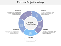 Purpose Project Meetings Ppt Powerpoint Presentation Show Example Cpb