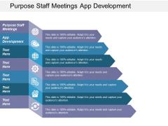 Purpose Staff Meetings App Development Ppt PowerPoint Presentation Inspiration Example Topics
