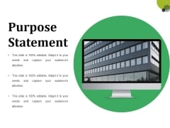Purpose Statement Ppt PowerPoint Presentation File Model
