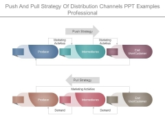 Push And Pull Strategy Of Distribution Channels Ppt Examples Professional