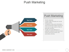 Push Marketing Ppt PowerPoint Presentation Layouts Graphic Tips