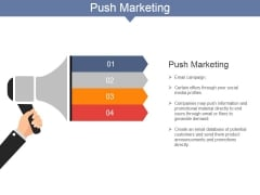 Push Marketing Ppt PowerPoint Presentation Styles Guide