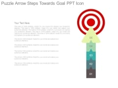 Puzzle Arrow Steps Towards Goal Ppt Icon