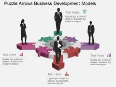 Puzzle Arrows Business Development Models Powerpoint Template