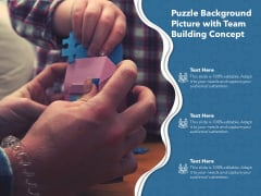 Puzzle Background Picture With Team Building Concept Ppt PowerPoint Presentation Layouts Format Ideas PDF