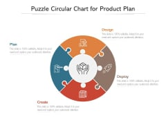 Puzzle Circular Chart For Product Plan Ppt PowerPoint Presentation Icon Smartart