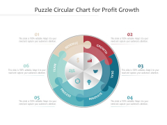 Puzzle Circular Chart For Profit Growth Ppt PowerPoint Presentation Show Themes PDF