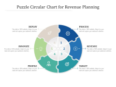 Puzzle Circular Chart For Revenue Planning Ppt PowerPoint Presentation Pictures Graphics Download PDF