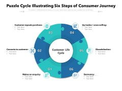 Puzzle Cycle Illustrating Six Steps Of Consumer Journey Ppt PowerPoint Presentation Model Smartart PDF