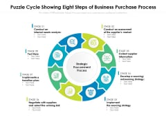 Puzzle Cycle Showing Eight Steps Of Business Purchase Process Ppt PowerPoint Presentation Slide PDF
