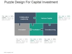 Puzzle Design For Capital Investment Ppt PowerPoint Presentation Picture