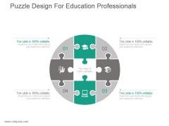 Puzzle Design For Education Professionals Presentation Ideas