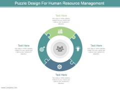 Puzzle Design For Human Resource Management Ppt Slide