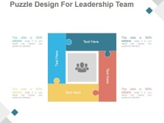 Puzzle Design For Leadership Team Ppt PowerPoint Presentation Inspiration