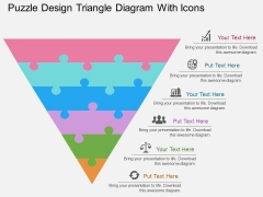 Puzzle Design Triangle Diagram With Icons Powerpoint Template