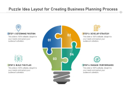 Puzzle Idea Layout For Creating Business Planning Process Ppt PowerPoint Presentation Gallery Layout PDF