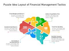 Puzzle Idea Layout Of Financial Management Tactics Ppt PowerPoint Presentation Slides Guidelines PDF