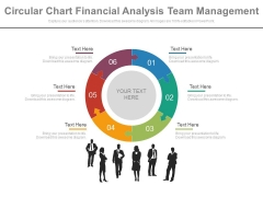 Puzzle Pie Chart With Team For Financial Analysis Powerpoint Slides